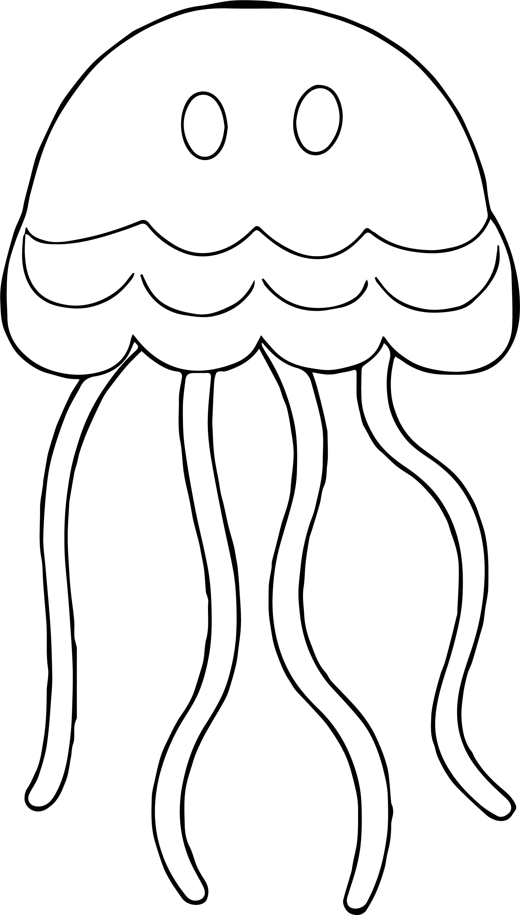 Colorful Animal Jellyfish Geometry Coloring Page