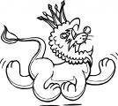 Cool Lion Walking Side Coloring Page