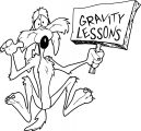 Coyote Looney Tunes Show Gravity Lessons Sign Coloring Page