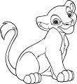 Cute Disney Lion Coloring Page