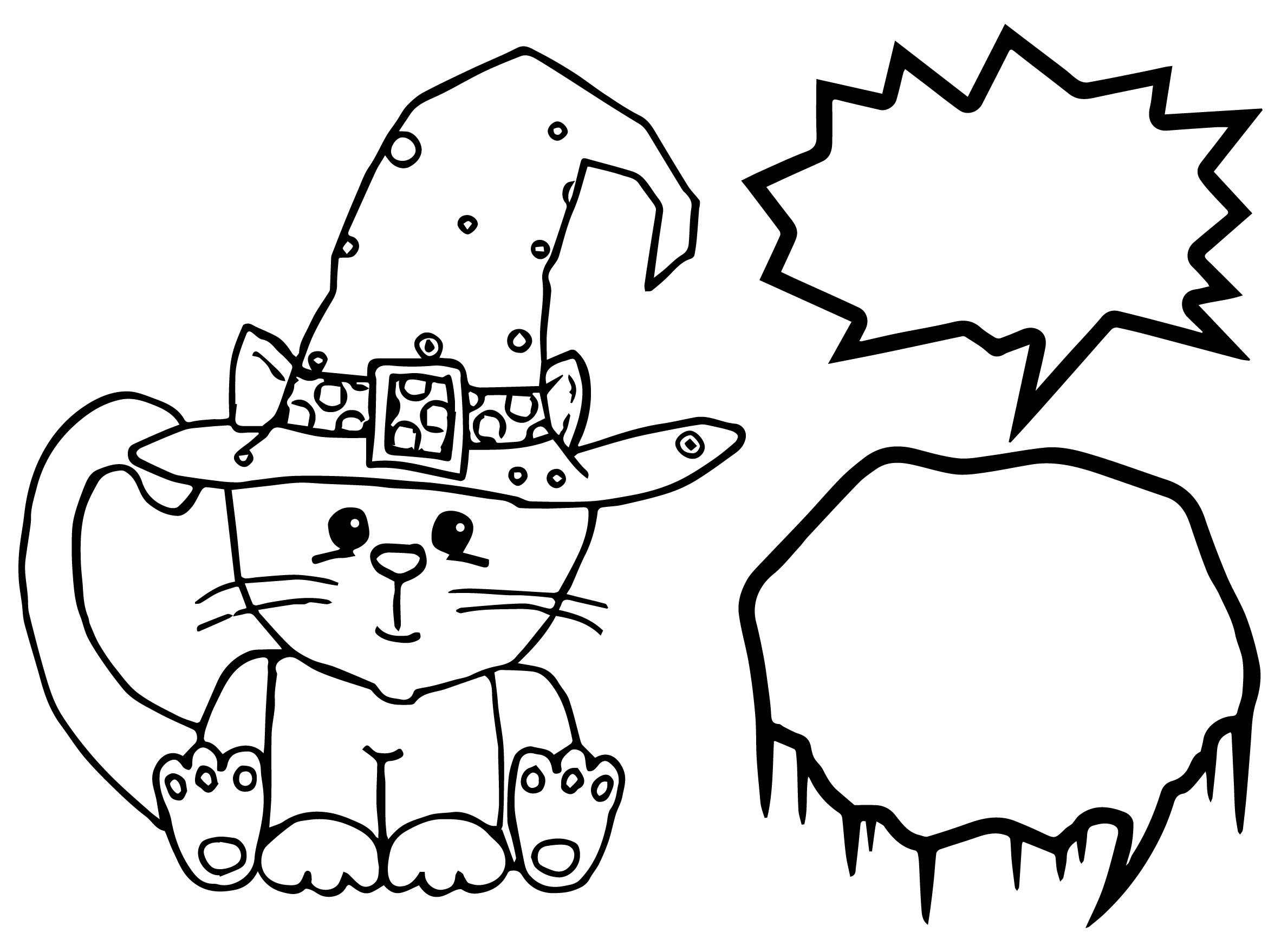 Cute Halloween Coloring Page