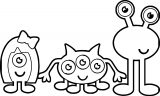 Cute Halloween Monster Large Cute Monsters Coloring Page