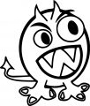 Cute Monster Download Coloring Page