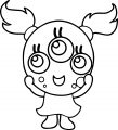 Cute Monster Girl Coloring Page