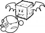 Cute Monsters Box And Ball Coloring Page