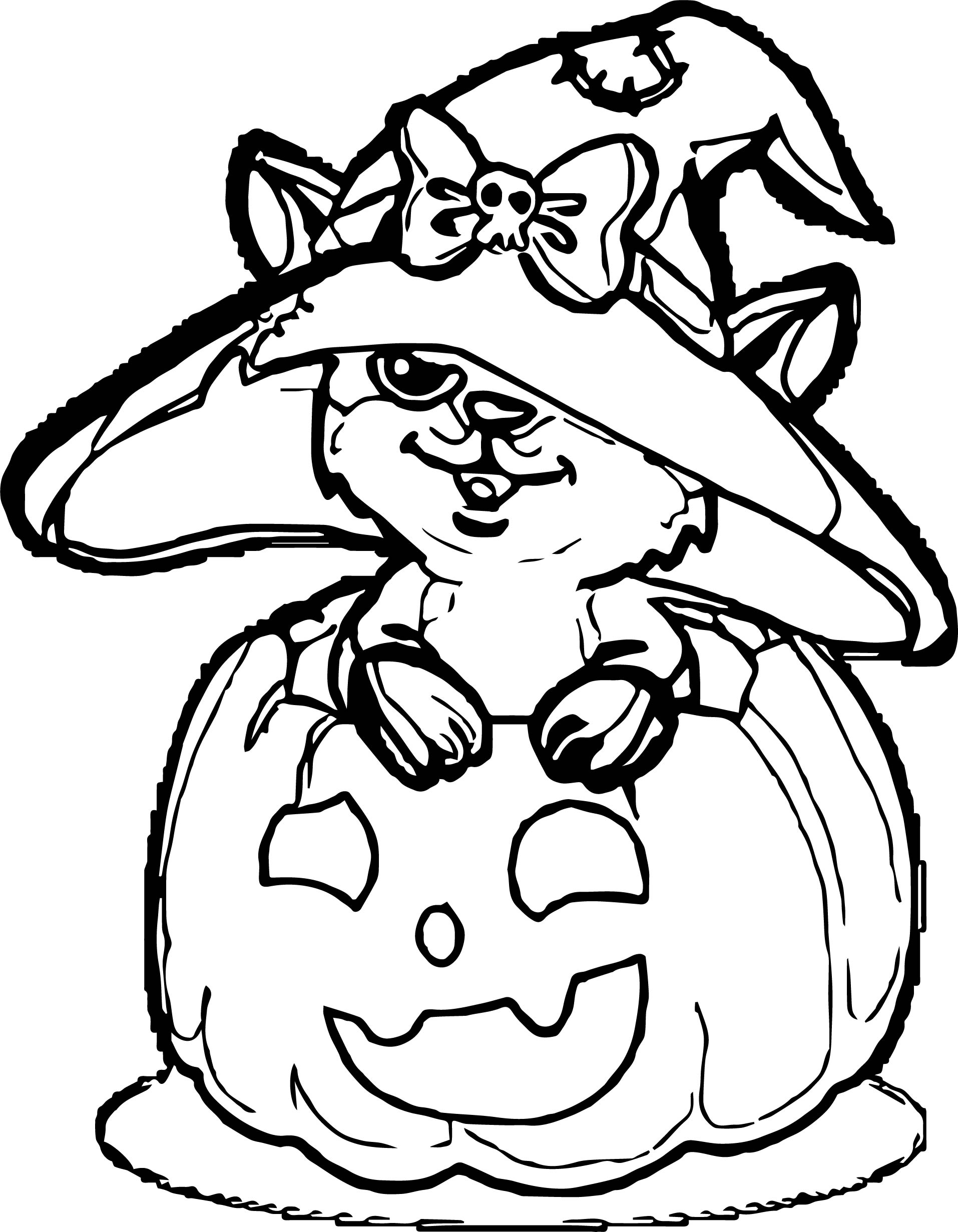 Cute Owl Halloween Children Coloring Page | Wecoloringpage.com