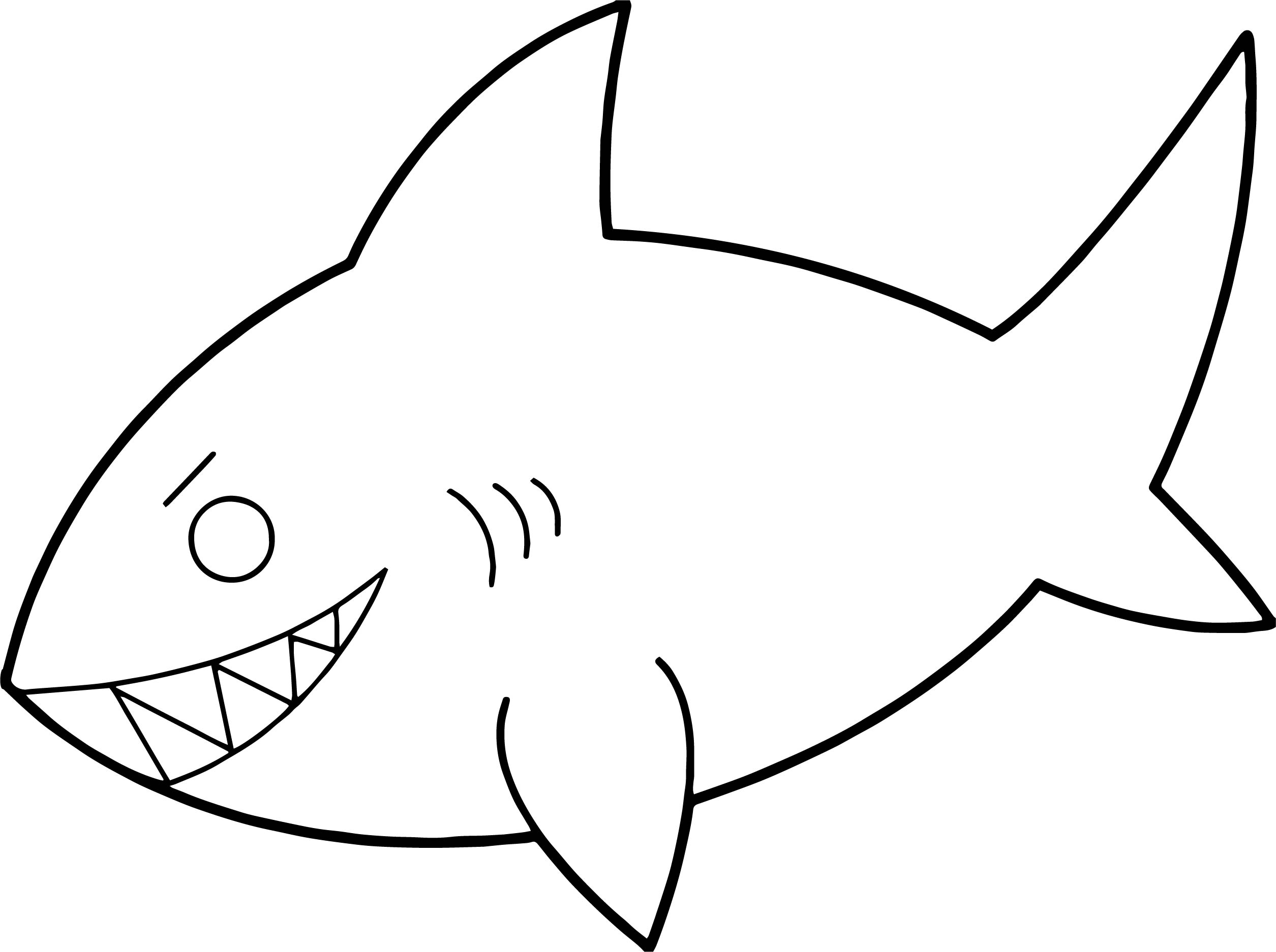 Danger Fish Shark Coloring Page