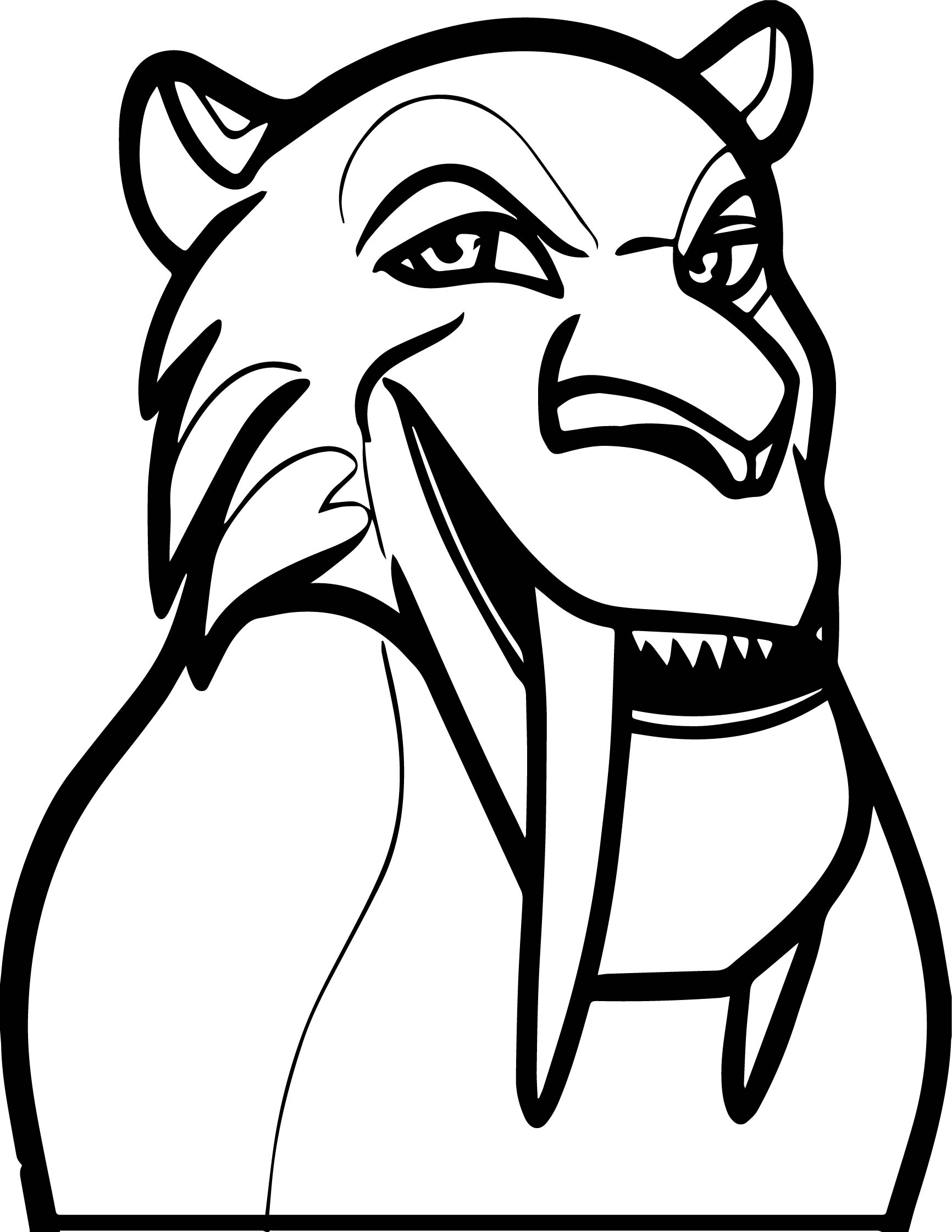 Diego From Ice Age Coloring Page