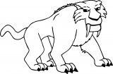 Diego Ice Age Coloring Page