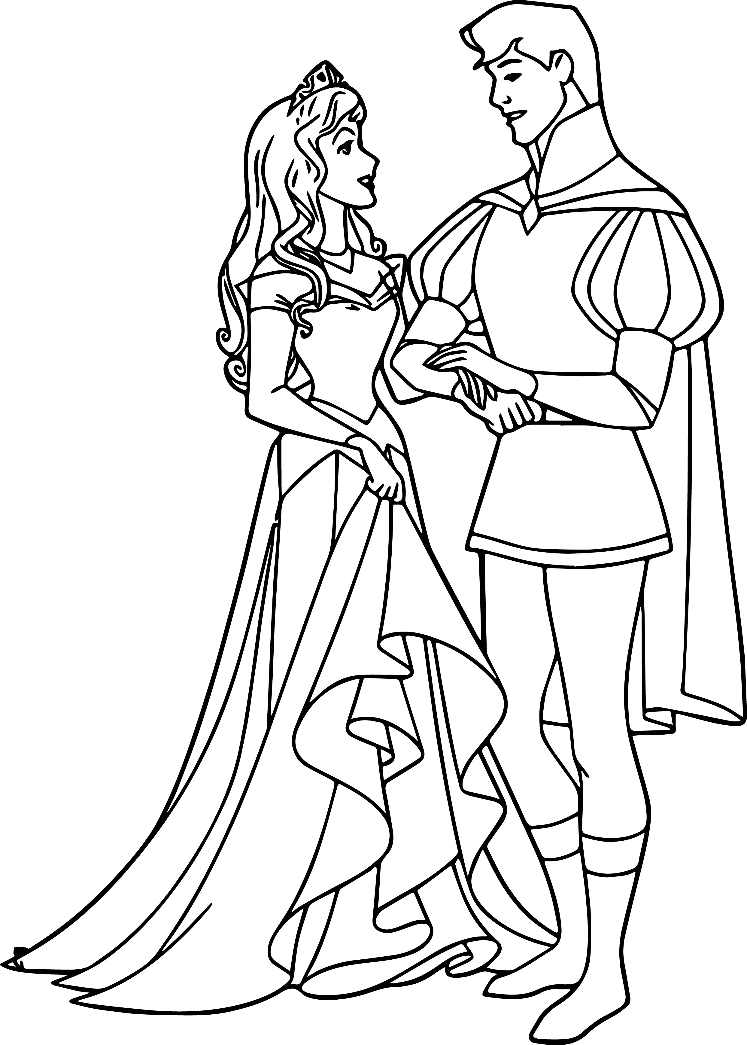 Disney Aurora And Phillip Coloring Pages 32