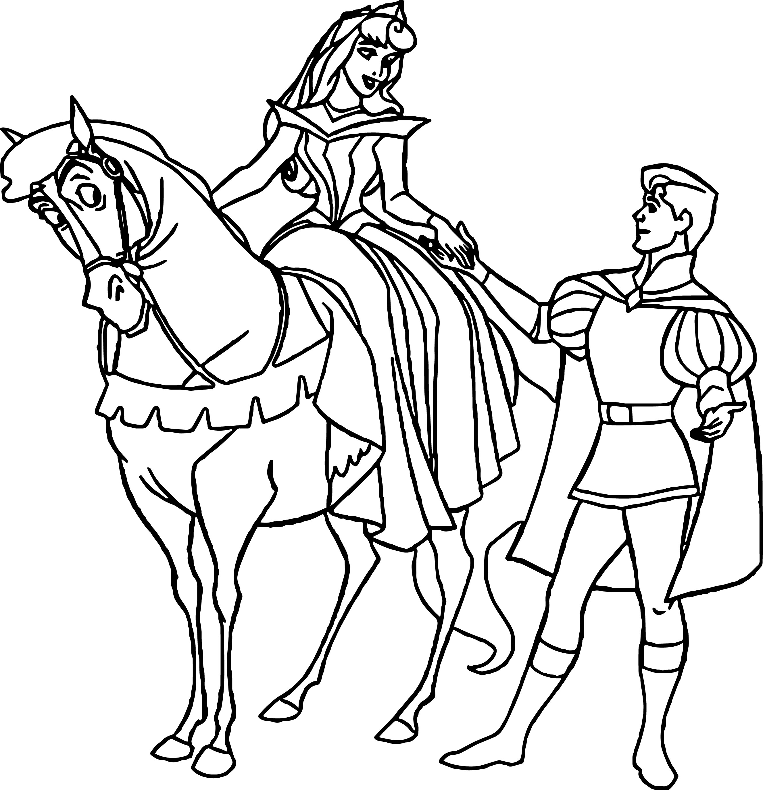 Disney Aurora And Phillip Coloring Pages 39