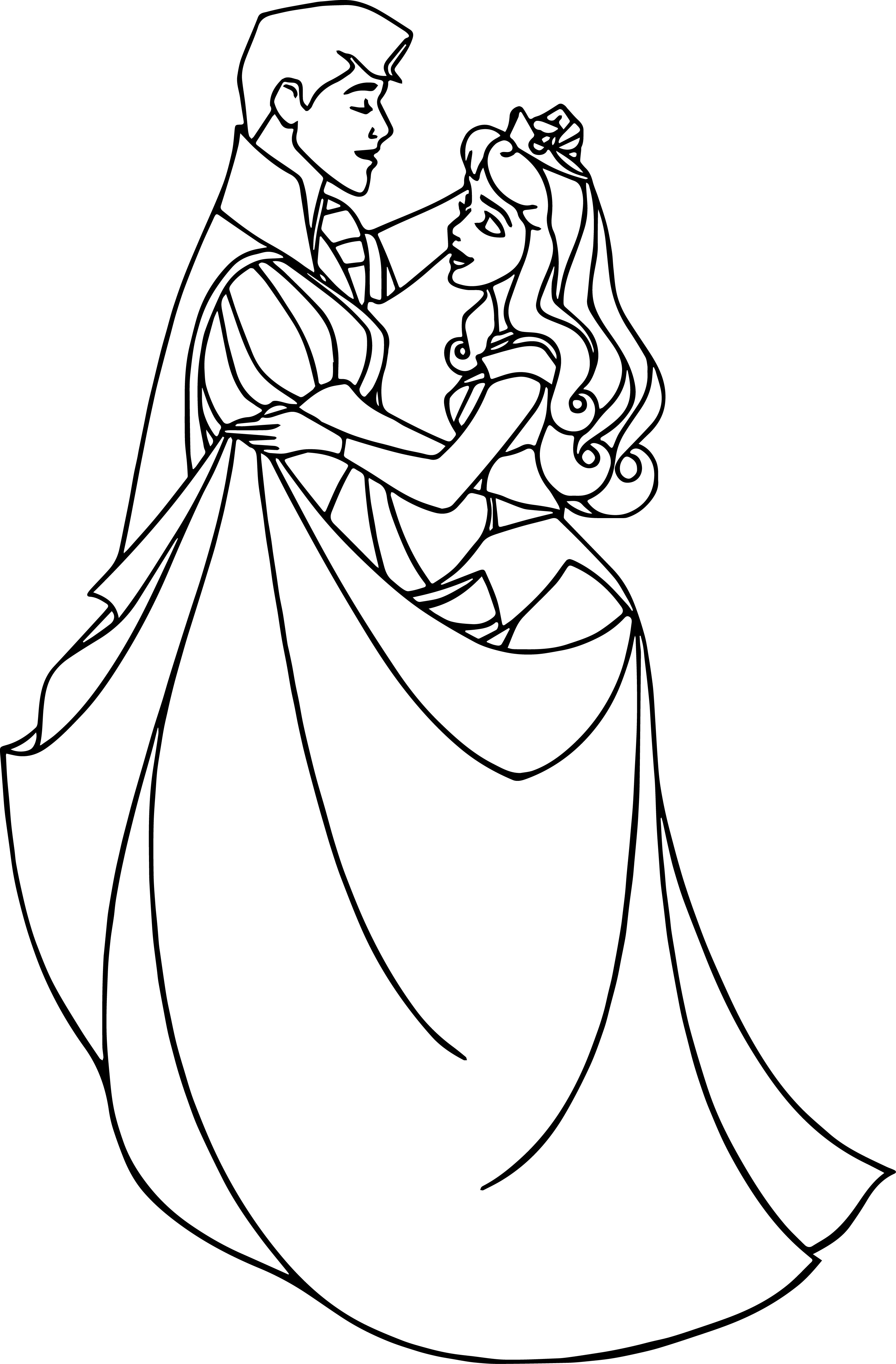 Disney Aurora And Phillip Coloring Pages 42