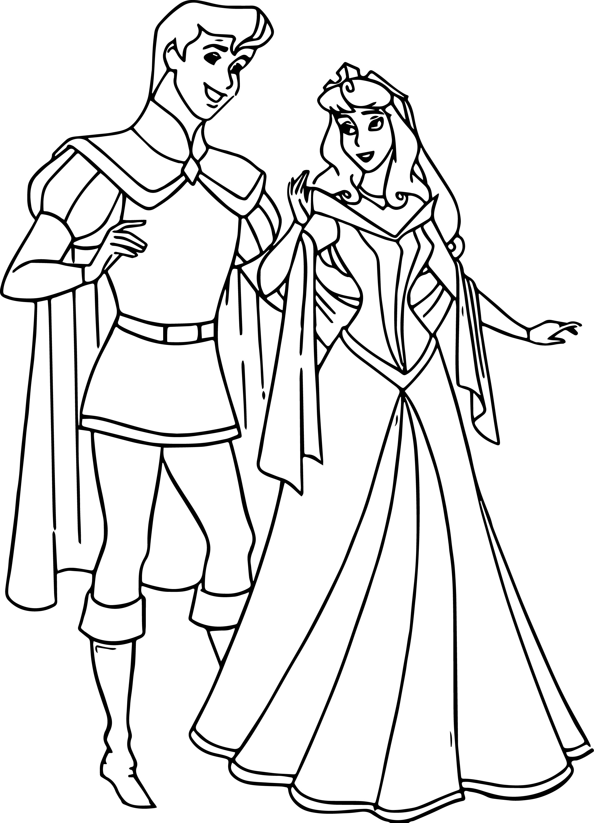 Disney Aurora And Phillip Coloring Pages 47