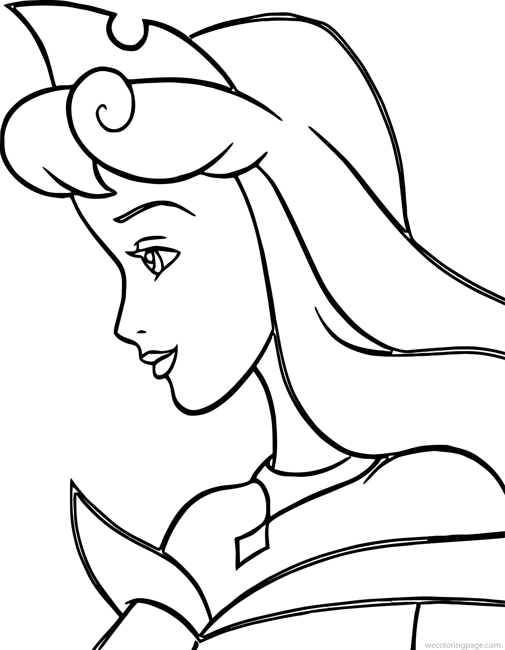 Disney Aurora Side Sleeping Beauty At Coloring Pages 30