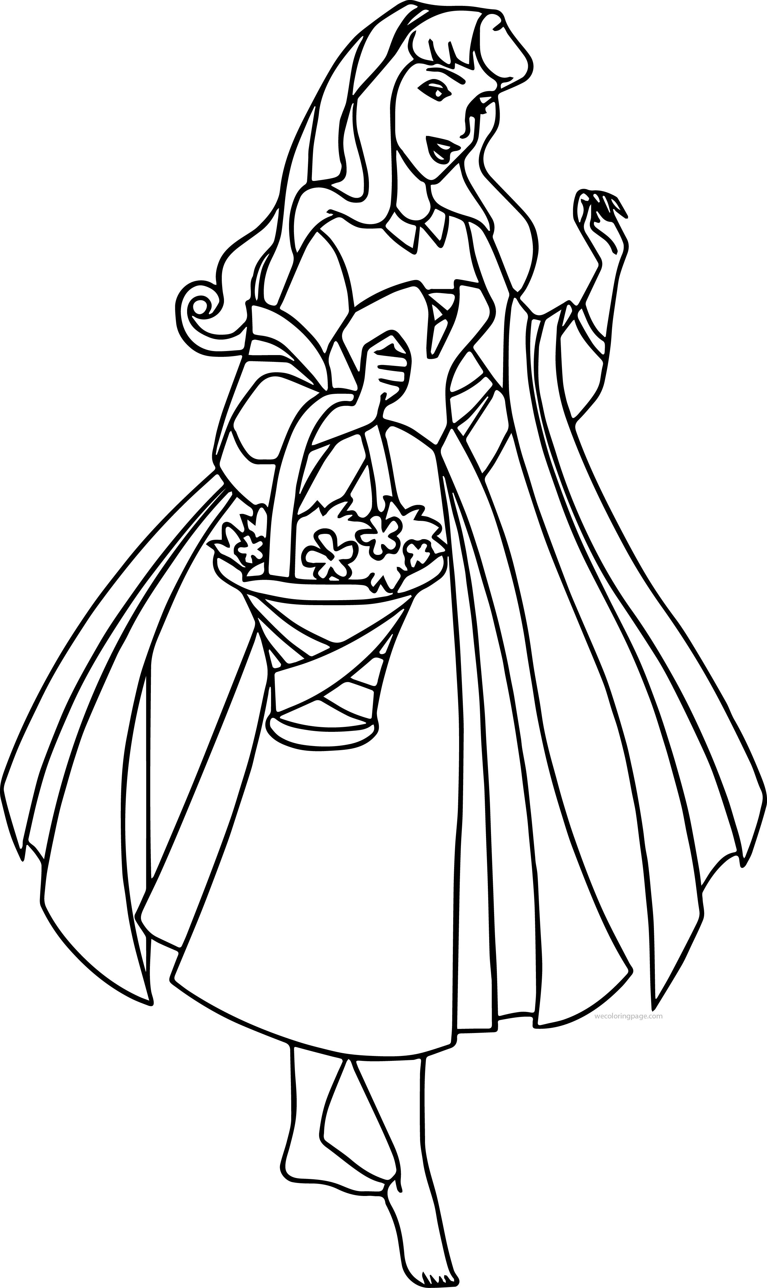 Disney Aurora Sleeping Beauty At Coloring Pages 09