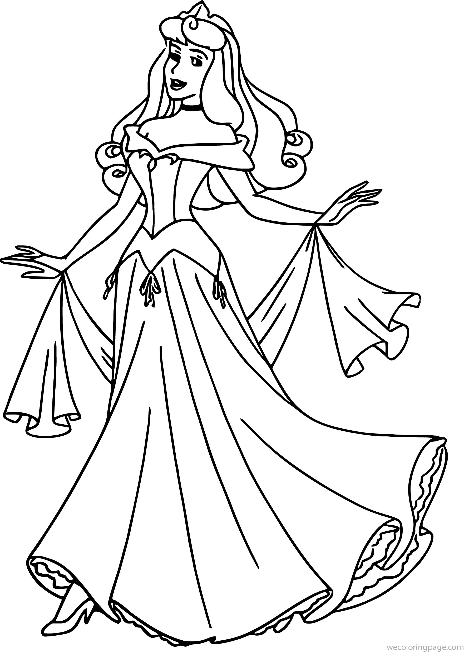 Disney Aurora Sleeping Beauty At Coloring Pages 16