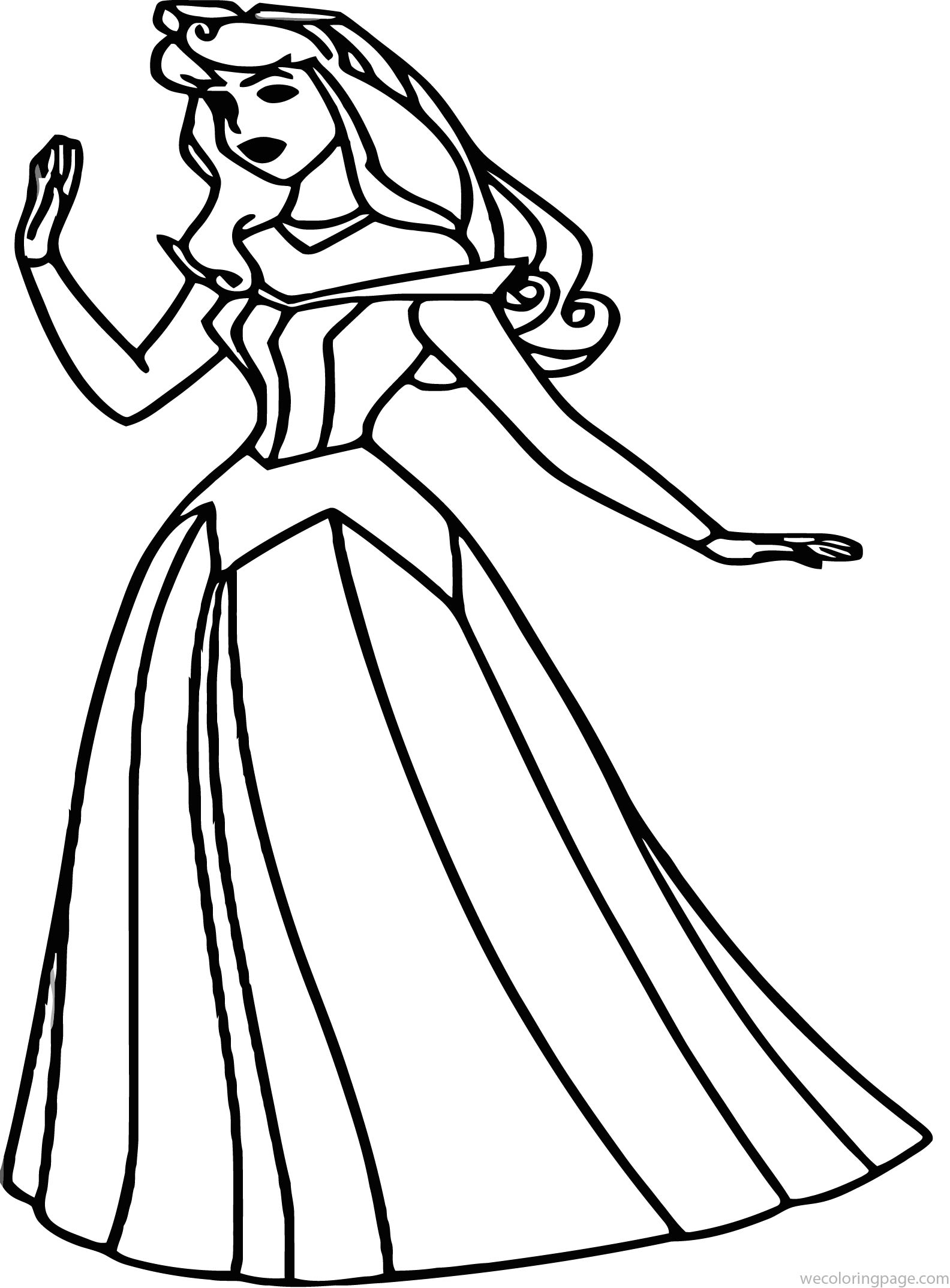 Disney Aurora Sleeping Beauty At Coloring Pages 20