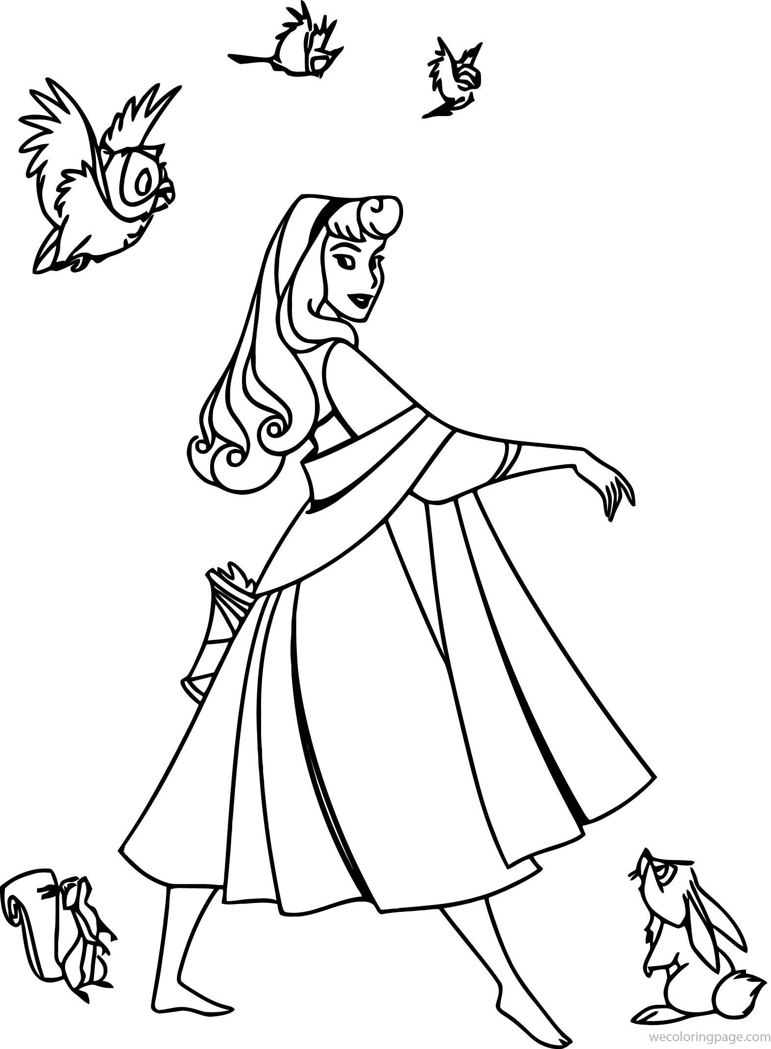 Disney Aurora Sleeping Beauty At Coloring Pages 33