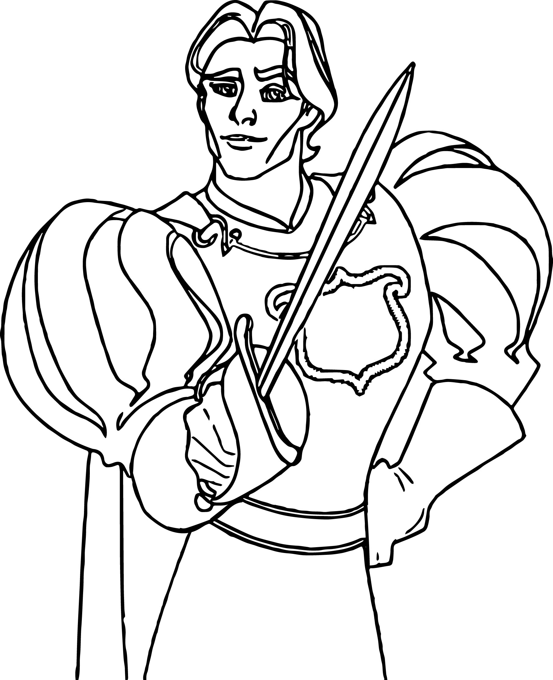Disney Enchanted Prince Coloring Pages 03