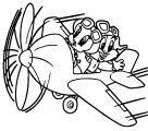 Disney Graphics Baby Looney Toons Tunes Show Plane Coloring Page
