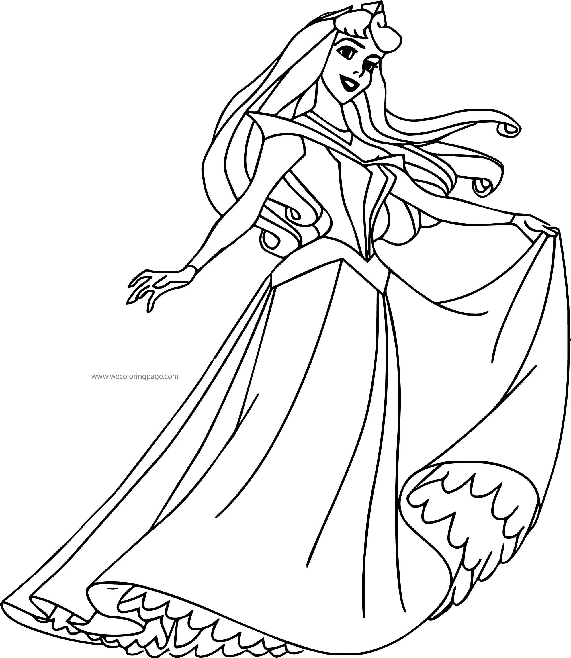 Disney Princess Sleeping Beauty At Disney Princess Aurora Coloring Pages