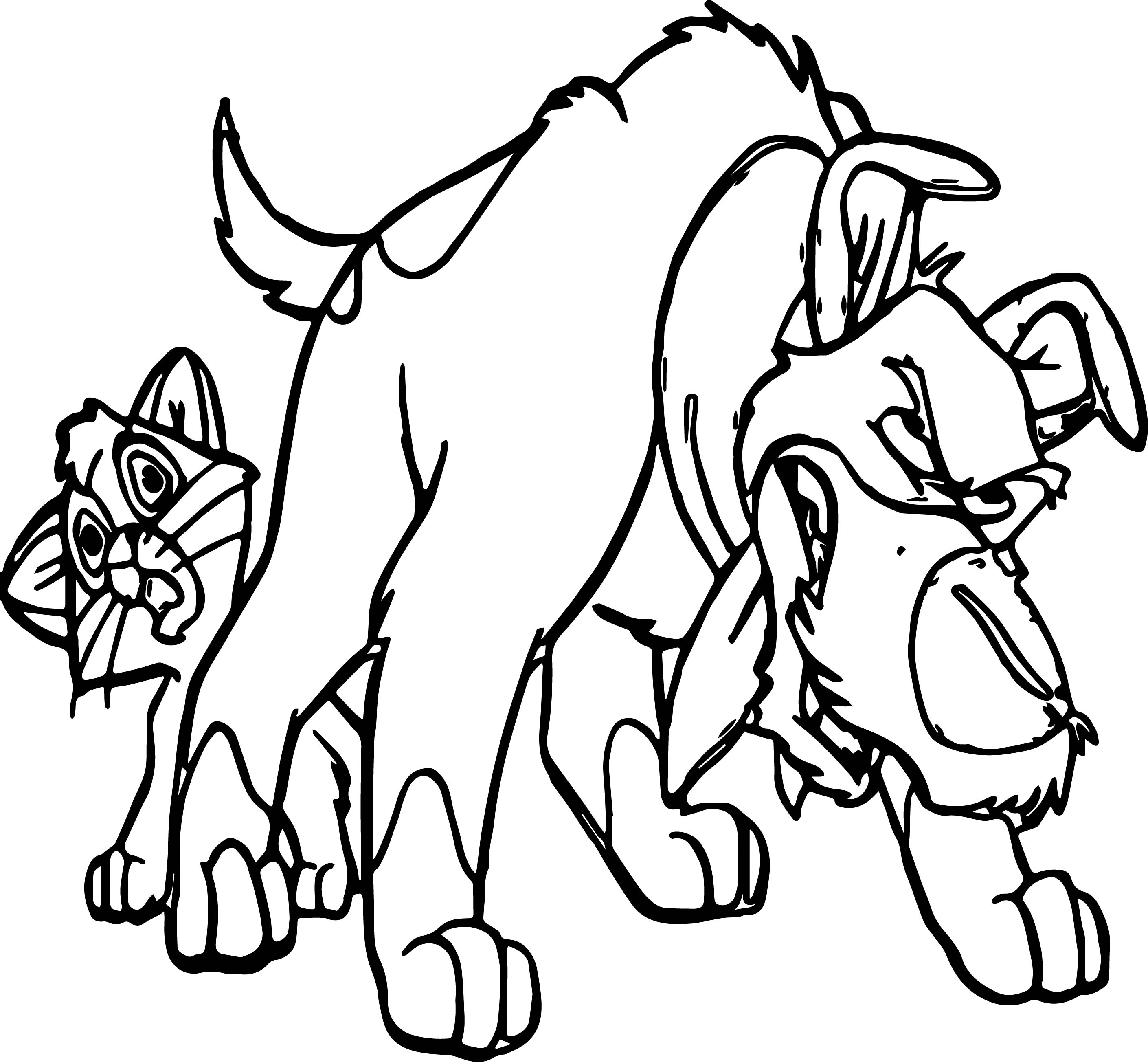 Dodger Dog And Cat Growl Coloring Pages