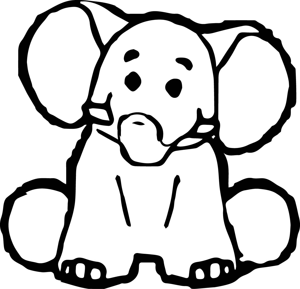 Elephant Coloring Page 100