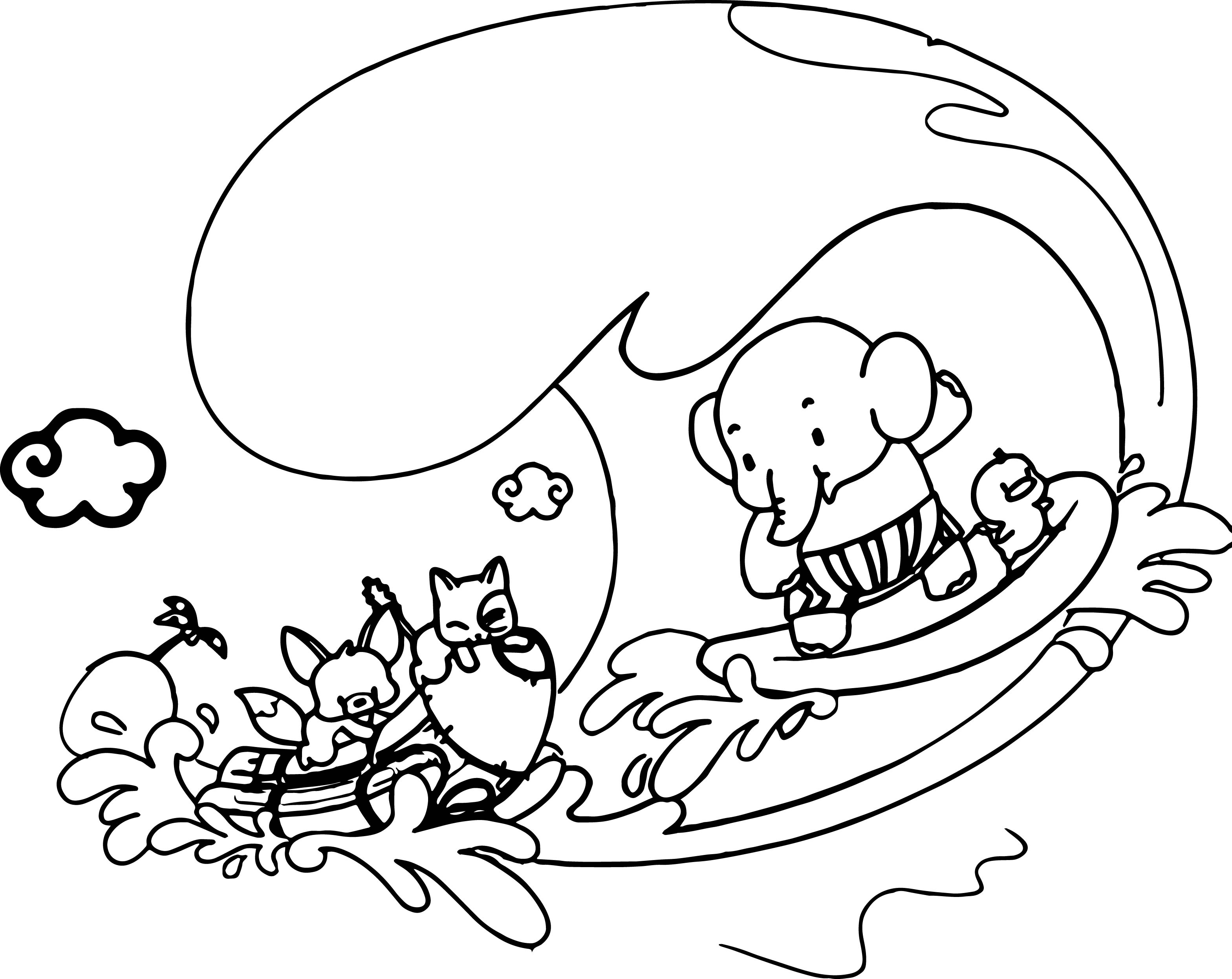 Elephant Coloring Page 103