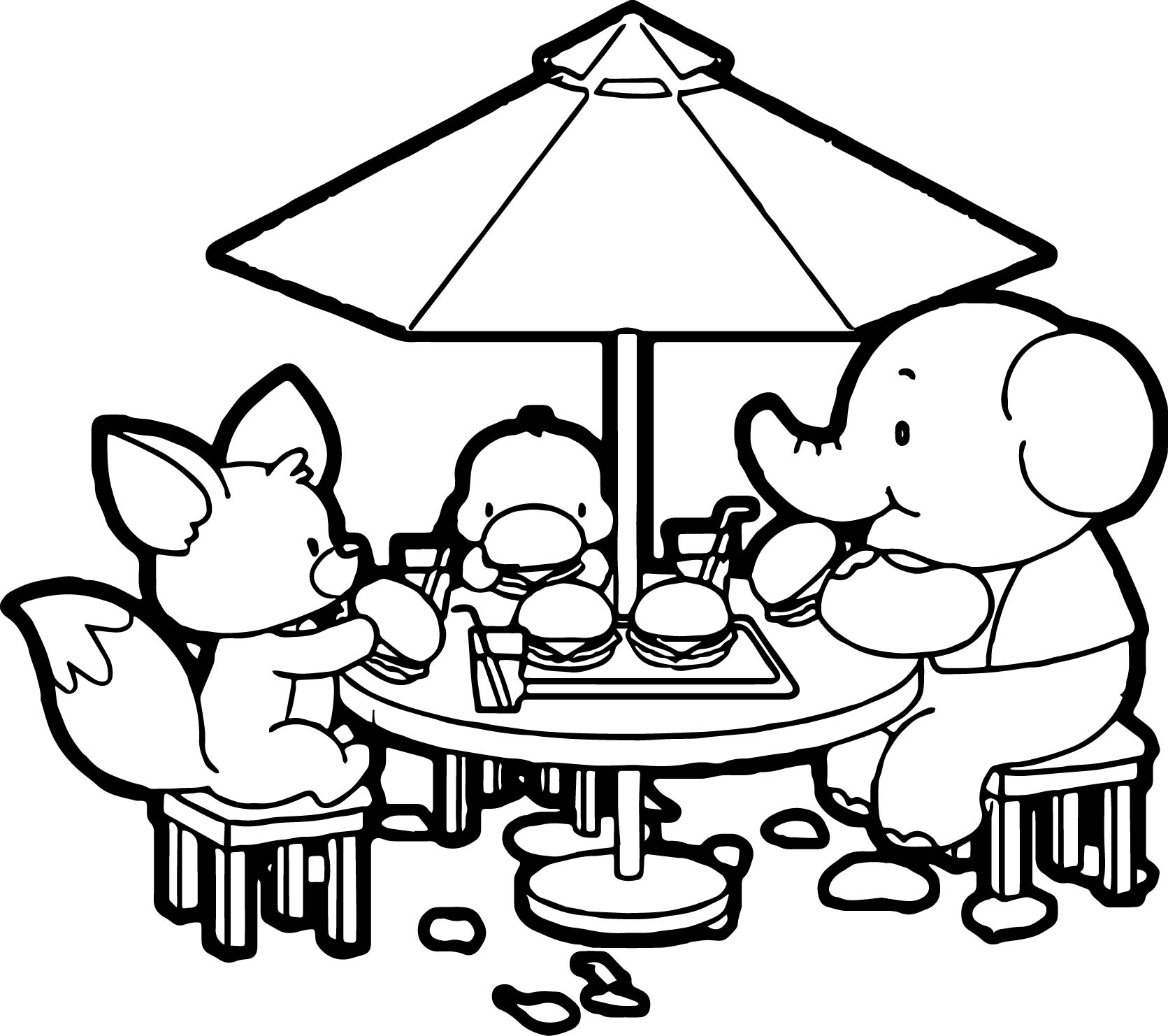 Elephant Coloring Page 107
