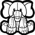 Elephant Coloring Page 110