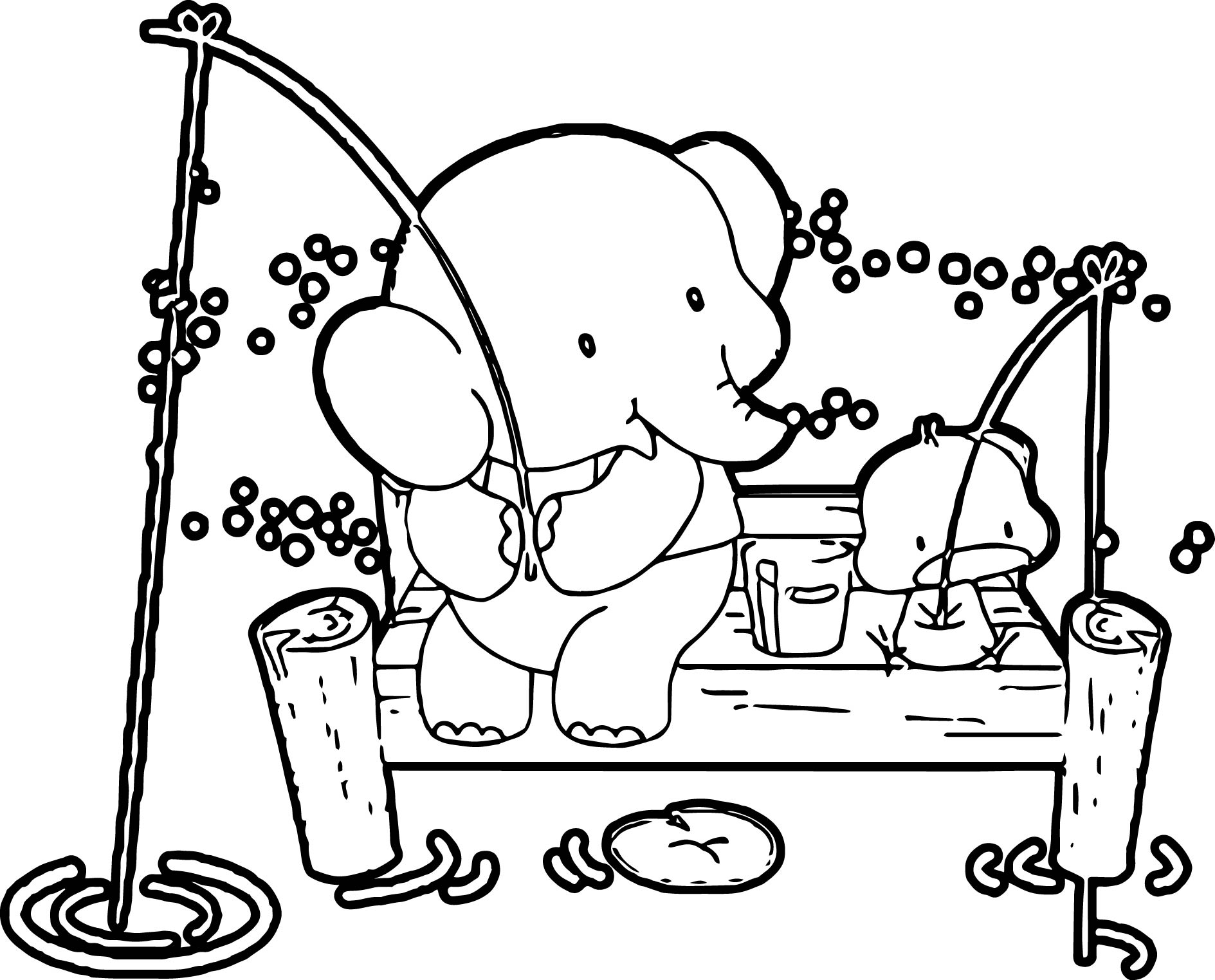Elephant Coloring Page 114