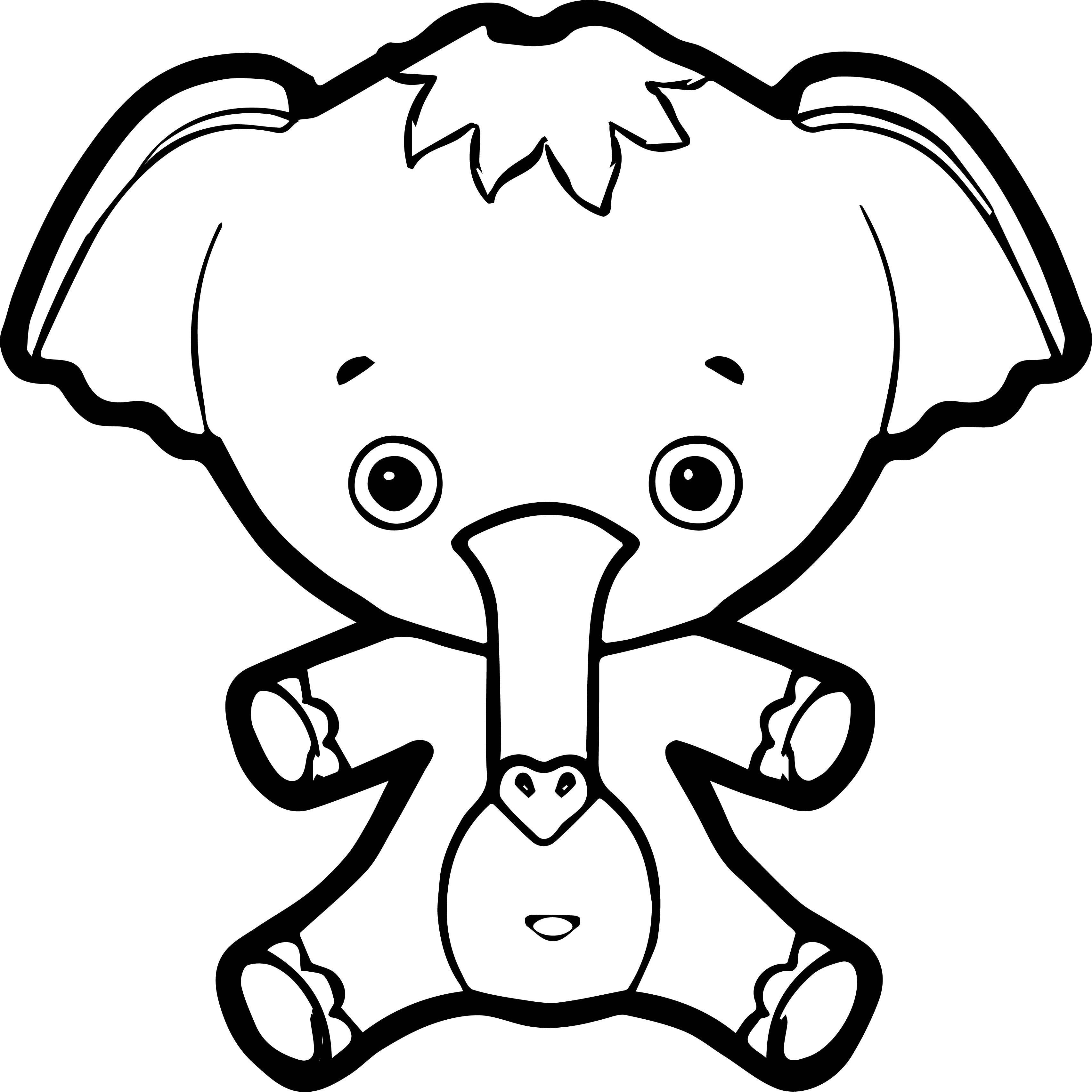 Elephant Coloring Page 120