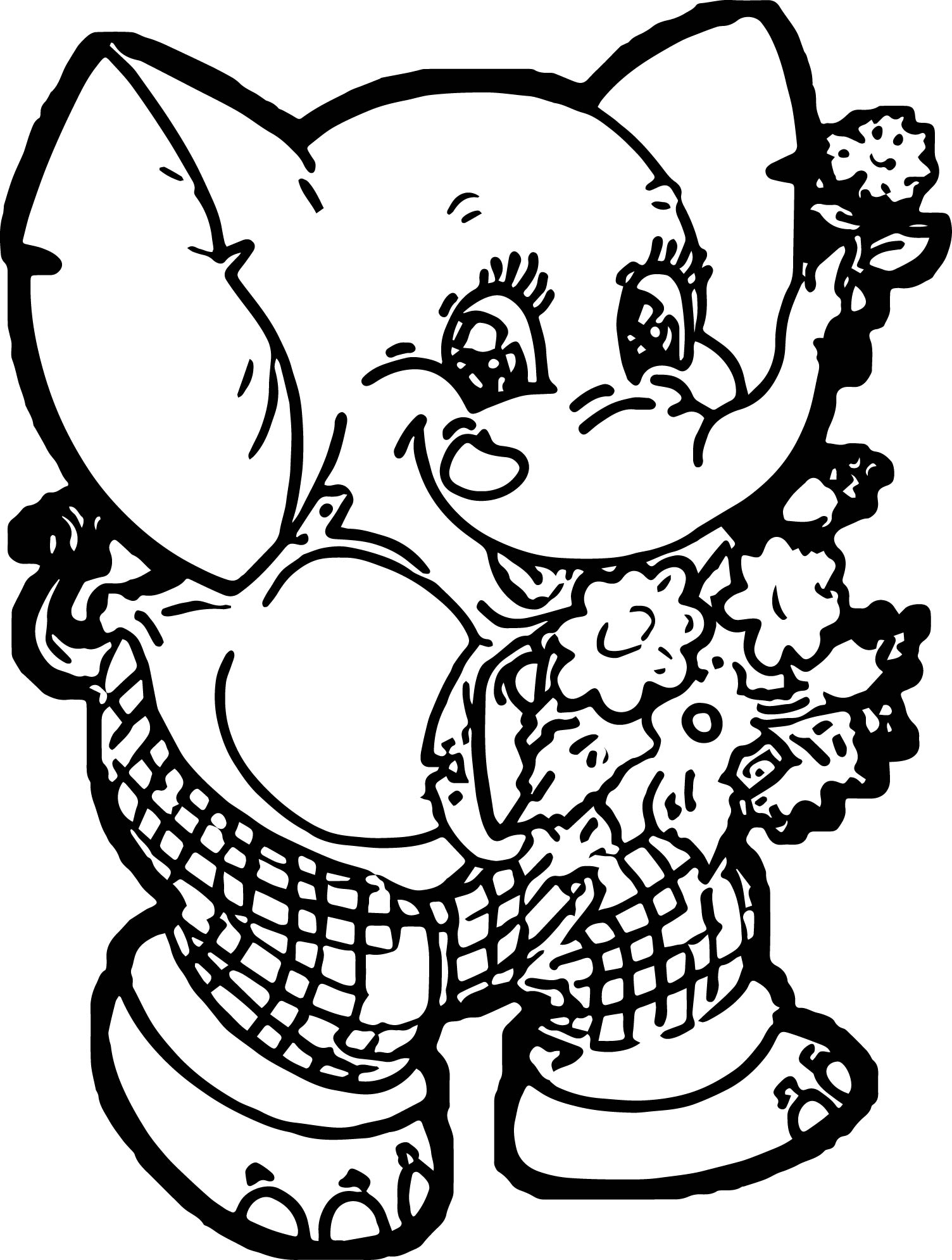 Elephant Coloring Page 127