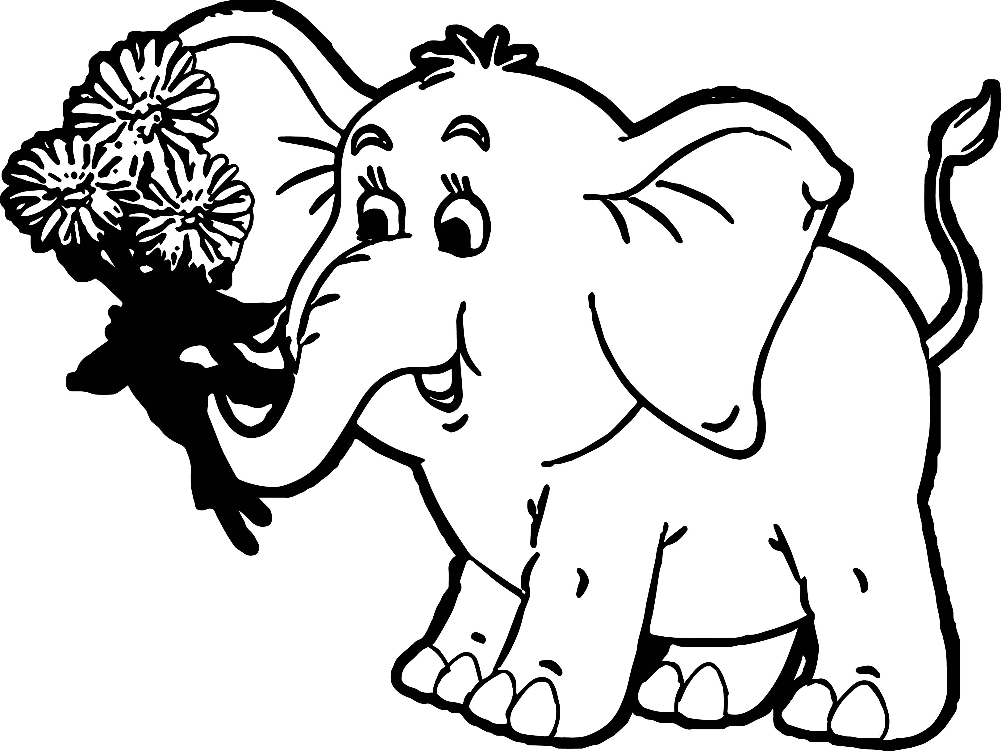 Elephant Coloring Page 130
