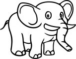 Elephant Coloring Page 24
