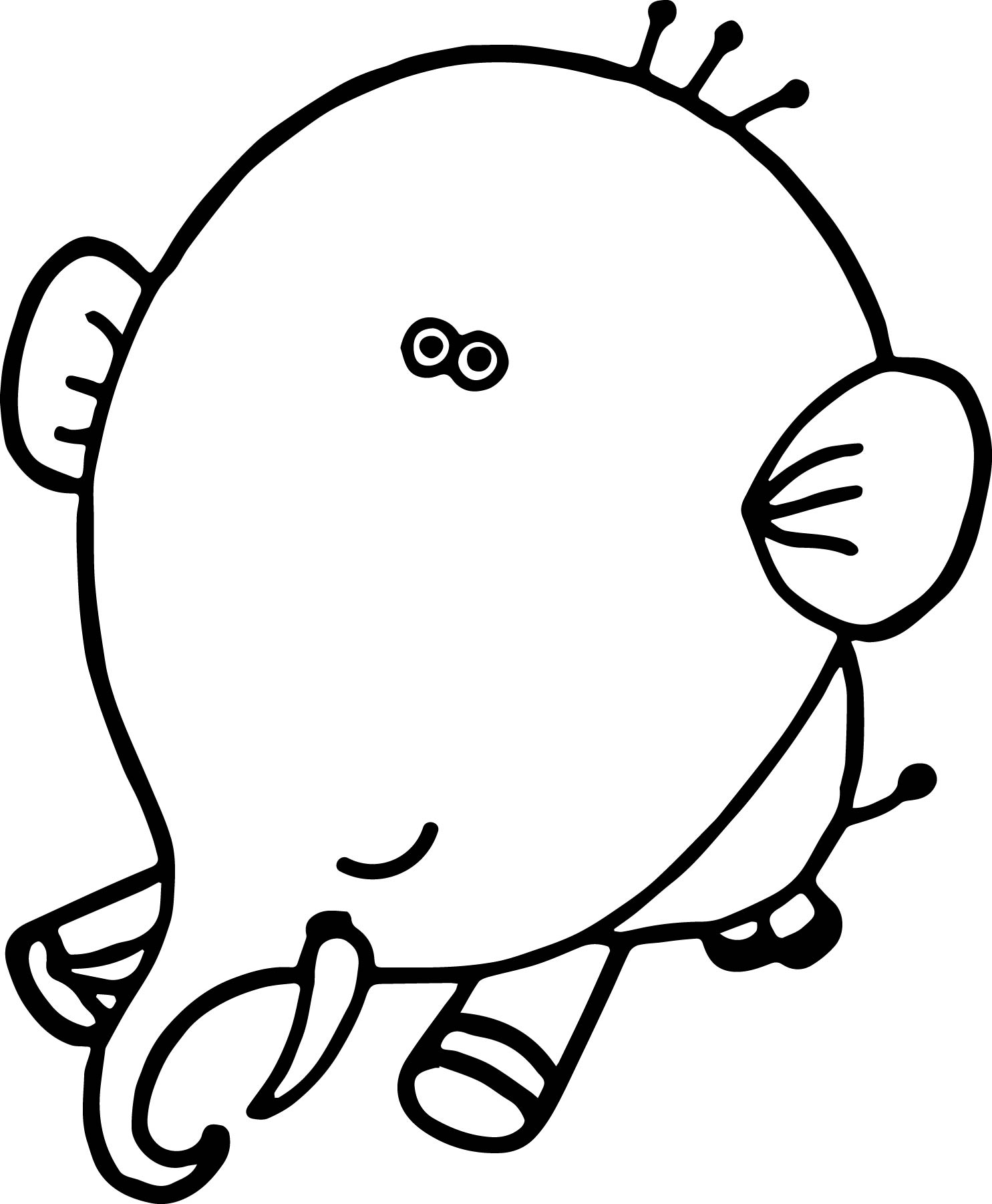 Elephant Coloring Page 43