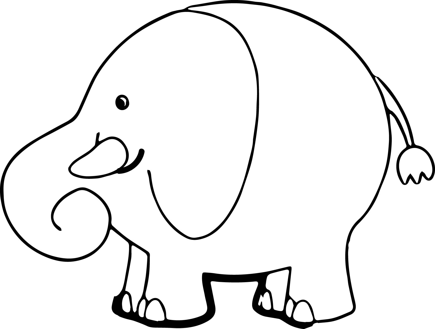 Elephant Coloring Page 52