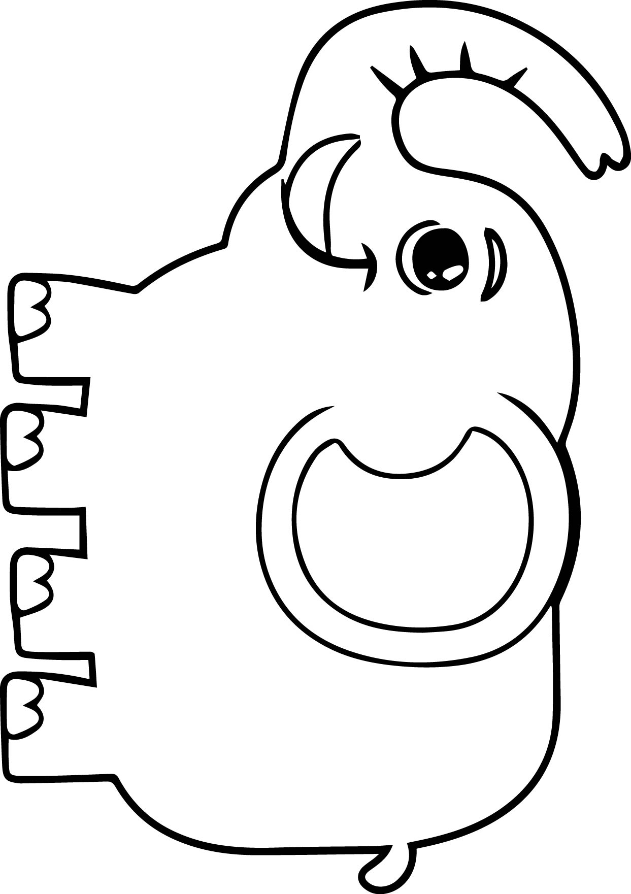Elephant Coloring Page 56