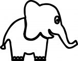 Elephant Coloring Page 57