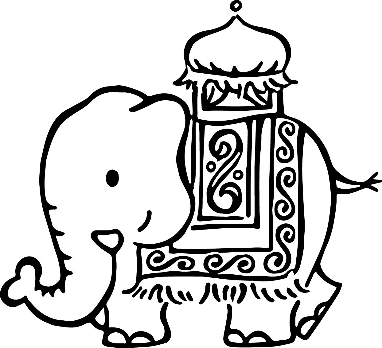 Elephant Coloring Page 66