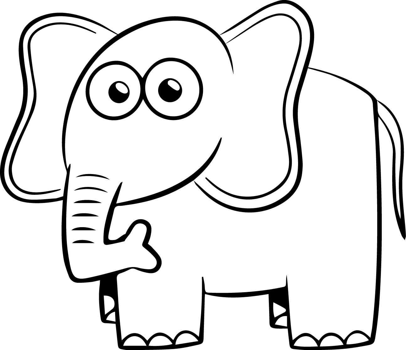 Elephant Coloring Page 78