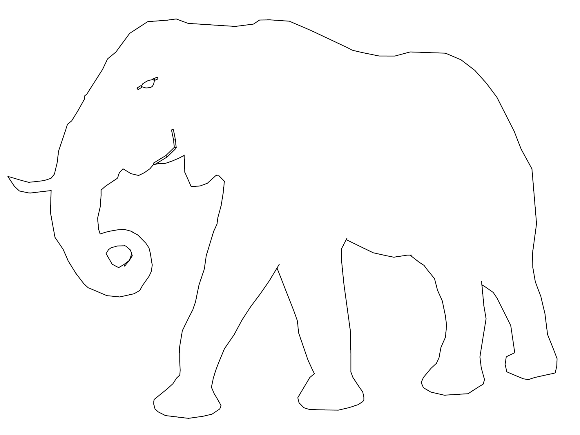 Elephant Coloring Page 85