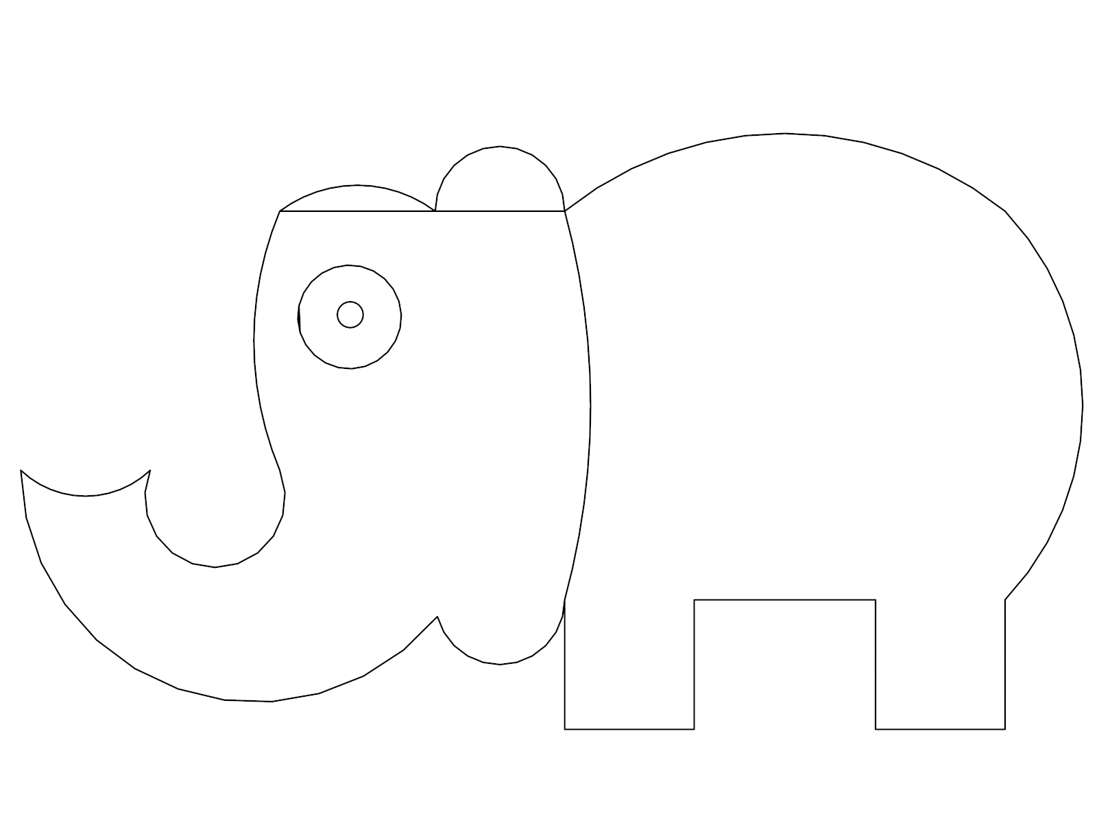 Elephant Coloring Page 90
