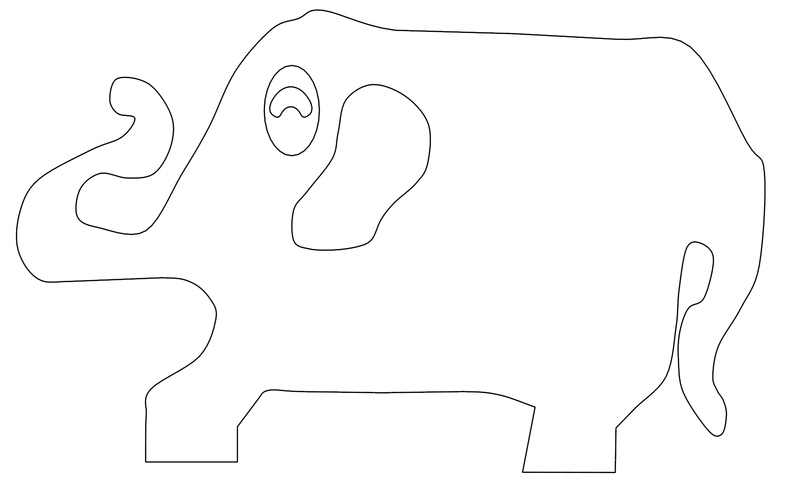 Elephant Coloring Page 93