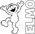 Elmo From Sesame Street Coloring Page