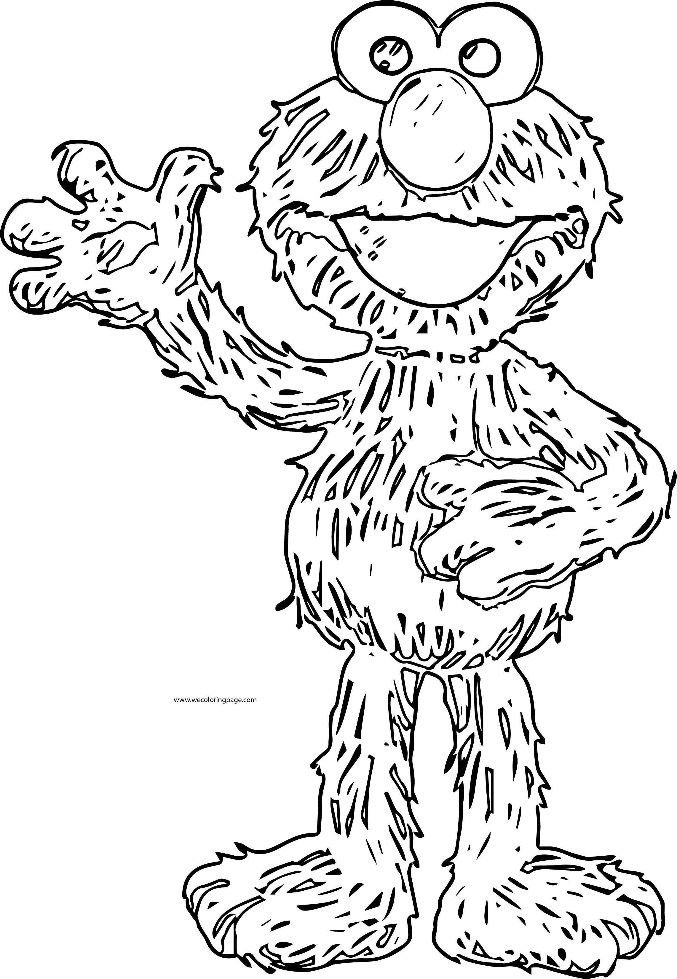 Elmo Loves You Sesame Street Giant Coloring Page