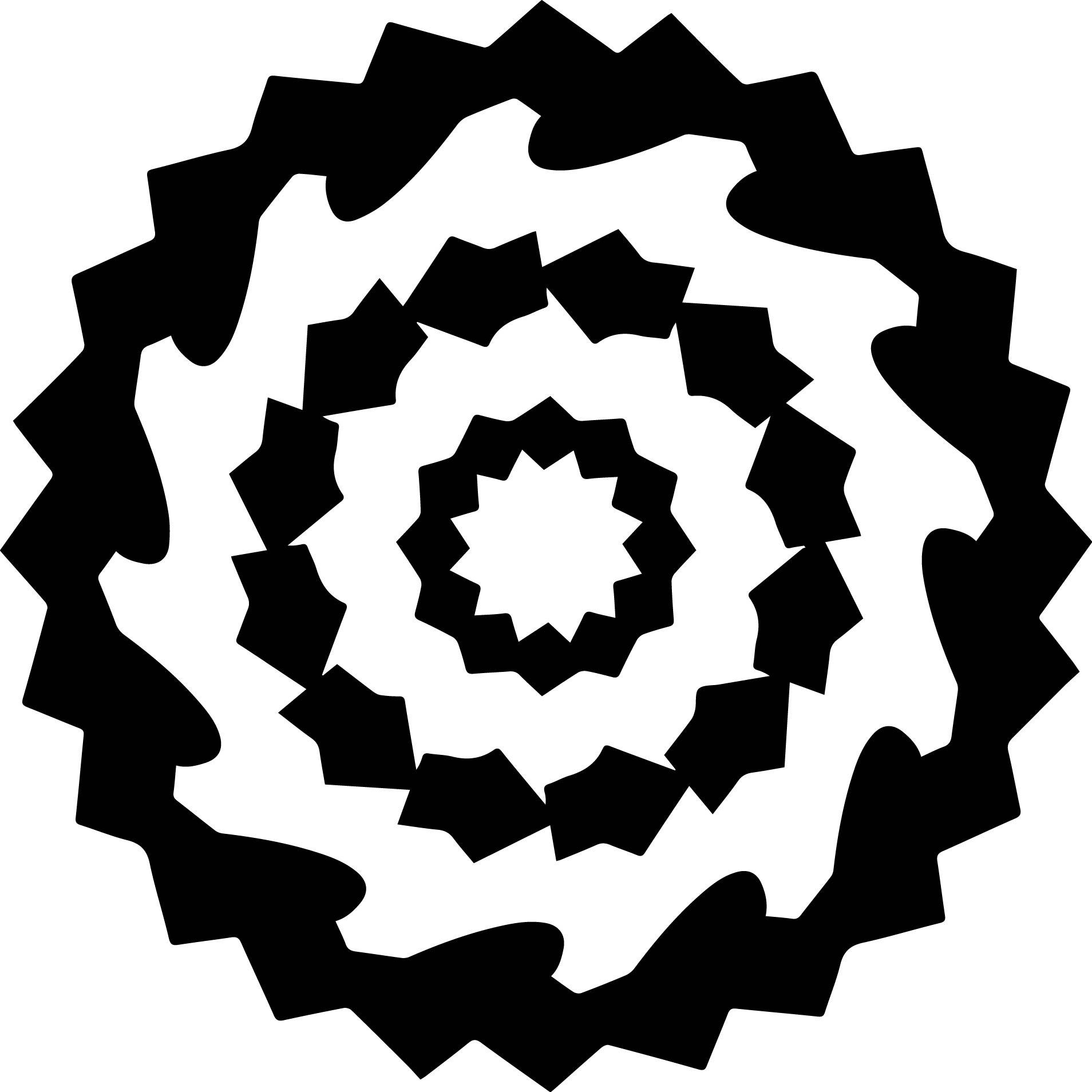 Empty White Black Mandala Coloring Orniment