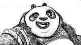 Father Kung Fu Panda Coloring Page