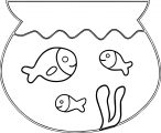 Fish In Small Aquarium Coloring Page