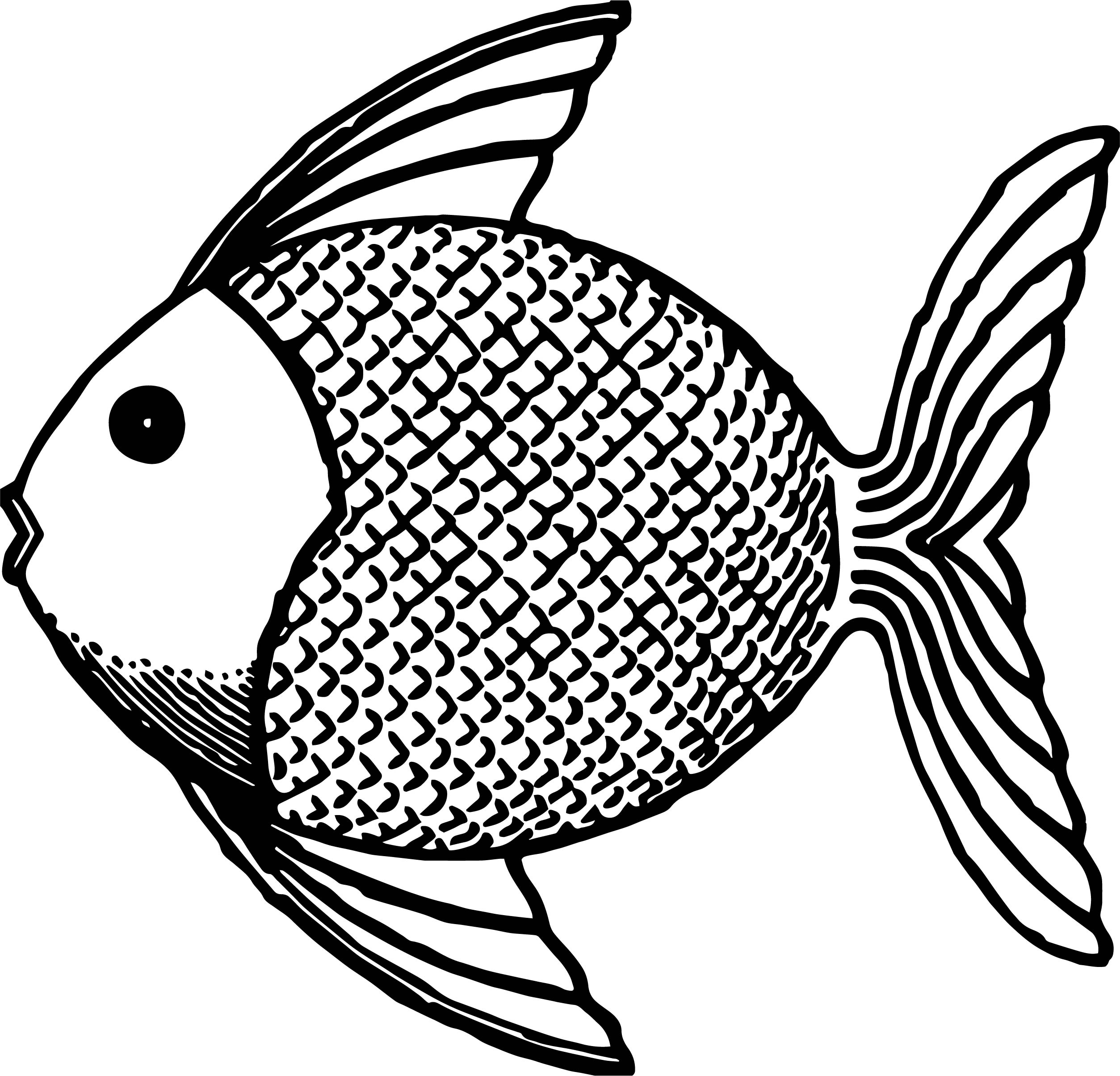 Fish Side Small Fat Coloring Page